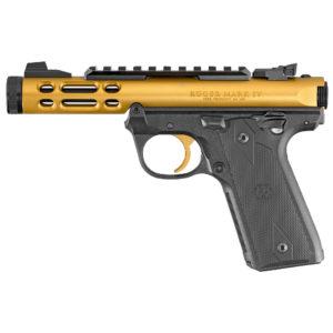 """Ruger Mark IV Lite 22LR 4.4"""" Barrel Gold 10RD"""