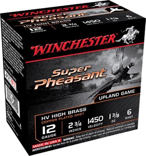 "Winchester Ammo X12PHV5 Super Pheasant HV High Brass 12 Gauge 2.75"" 1 3/8 oz 5 Shot Copper Plated 25 Bx"
