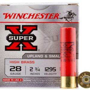 """Winchester Ammo X285 Super X High Brass 28 Gauge 2.75"""" 3/4 oz 5 Shot 25 Bx"""