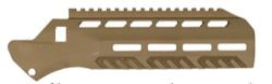 DESERT TECH DTMDR374FDE MDR Reflex Handguard Flat Dark Earth Aluminum