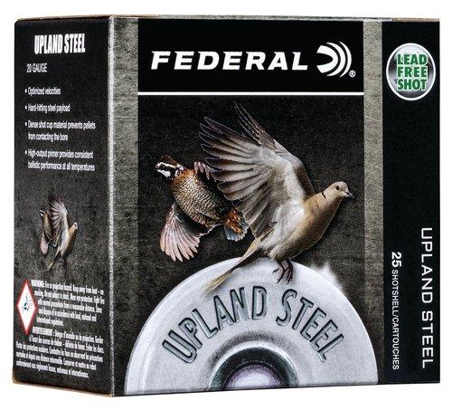 """Federal USH286 Upland Steel 28 Gauge 2.75"""" 5/8 oz 6 Shot 25 Bx"""
