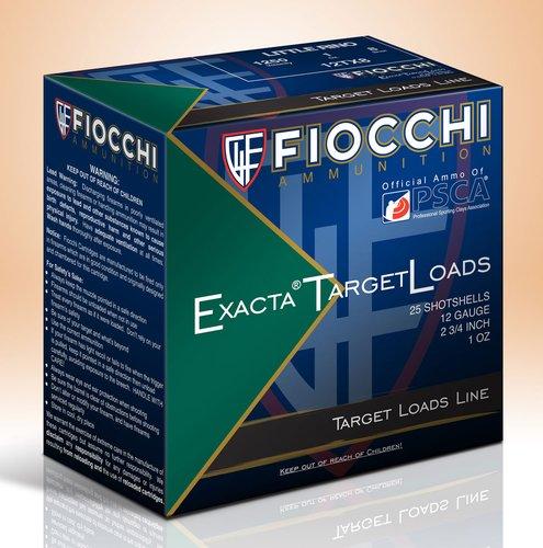 "Fiocchi 12TX8 Exacta Target Little Rino 12 Gauge 2.75"" 1 oz 8 Shot 25 Bx"