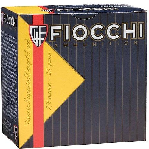 """Fiocchi 1278OZ75 Exacta Target Low Recoil 12 Gauge 2.75"""" 7/8 oz 7.5 Shot 25 Bx"""