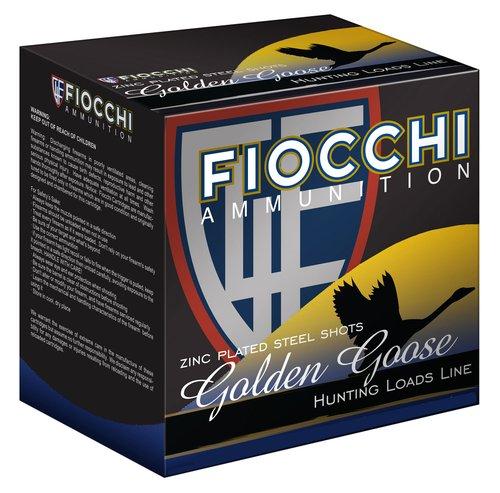 """Fiocchi 1235GG3B Golden Goose 12 Gauge 3.5"""" 1 5/8 oz BBB Shot 25 Bx"""