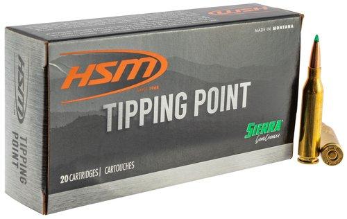 HSM 65CREEDMOOR4N Tipping Point 6.5 Creedmoor 130 gr Sierra GameChanger 20 Bx