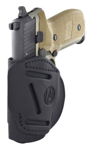 1791 Gunleather 4WH5SBLL 4 Way Stealth Black Leather IWB/OWB Beretta 92FS