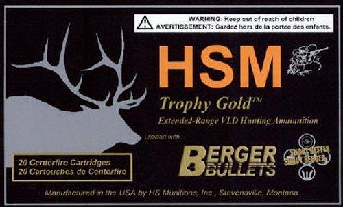 HSM 30378185V Trophy Gold 30-378 Wthby Mag 185 gr Match Hunting Very Low Drag 20 Bx