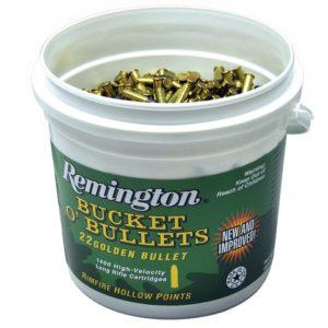 Remington Ammunition 21231 Golden Bullet 22 LR 36 gr Plated Hollow Point 1400 Bx