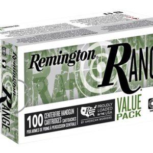 Remington Ammunition 23972 Range 9mm Luger 115 gr Full Metal Jacket (FMJ) 100 Bx