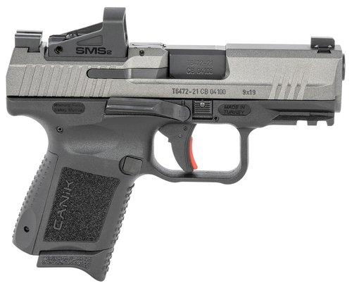 "Canik HG6597TVN TP9 Elite Subcompact 9mm Luger 3.60"" 12+1 Black Tungsten Gray Cerakote Steel Slide"