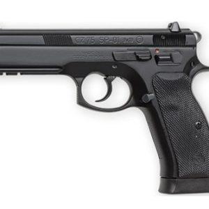 "CZ 75 SP-01 9mm Luger 4.60"" 18+1 Black Steel Slide Luminescent Night Sights"